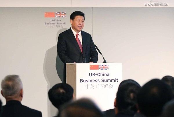 الرئيس الصيني يحضر قمة الأعمال الصينية البريطانية