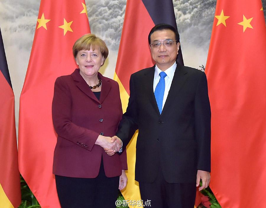 Премьер Госсовета КНР Ли Кэцян встретился с Ангелой Меркель в Пекине