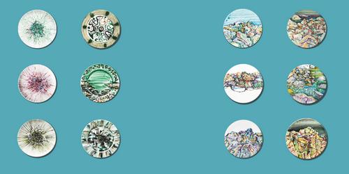 艺术盘子的图案设计