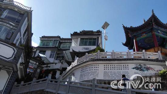 云南西山风景手绘图