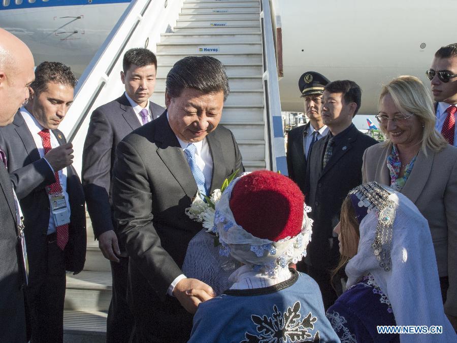 Le président chinois est arrivé en Turquie