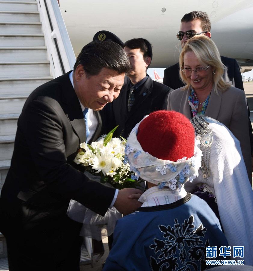 الرئيس الصيني يصل الى تركيا
