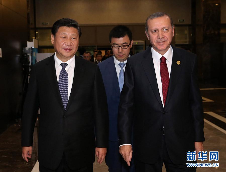 الرئيس الصيني يجري محادثات مع نظيره التركي