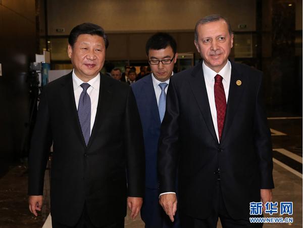 Le président chinois rencontre son homologue turc