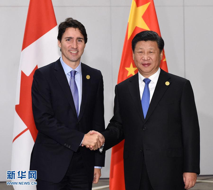 شي جين بينغ وجاستن ترودو يتوصلان إلى توافق على مواصلة الشراكة الإستراتيجية