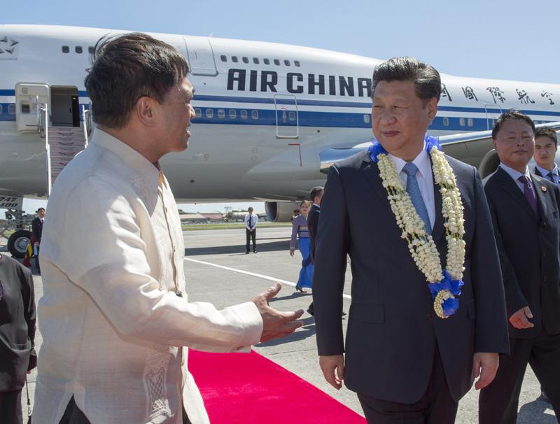 Le président chinois Xi Jinping est arrivé à Manille