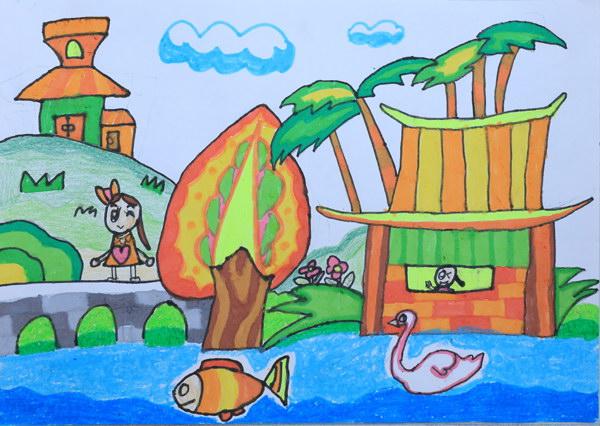 美丽的大海儿童画6幅