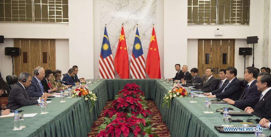 Le président chinois rencontre le Premier ministre malaisien
