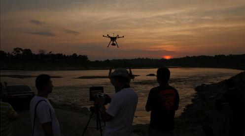 紀錄片《東方主戰場》航拍錄制現場
