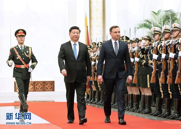 الرئيس الصيني يعقد محادثات مع الرئيس البولندي