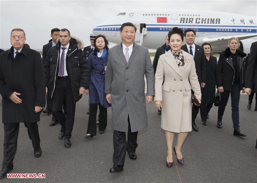 Le président chinois est arrivé à Paris