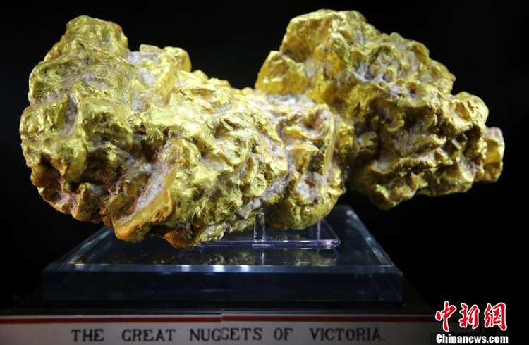 The largest gold nugget in the world -- 99.9 percent pure and weighing 62 kilograms -- is on display for the first time in China.