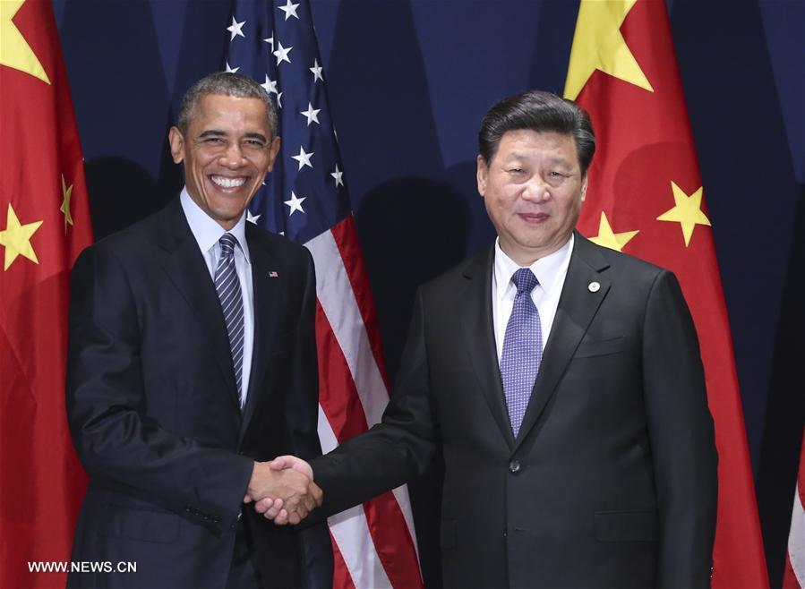 Rencontre entre Xi Jinping et Barack Obama à Paris en amont de la conférence de l