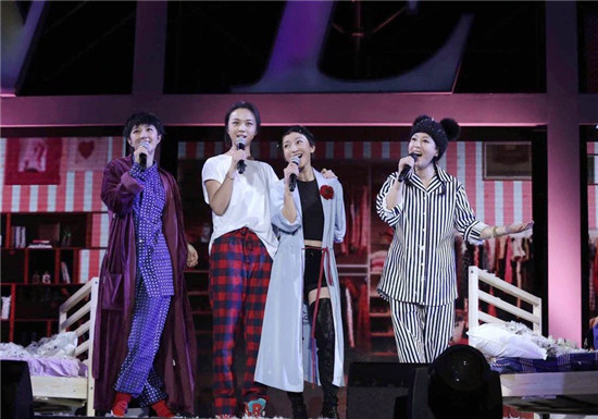zhouyongkang_zhou xun, tang wei, and gwei lun mei, also in pyjamas, then