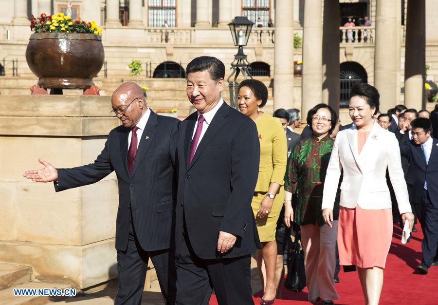 Le président chinois arrive en Afrique du Sud