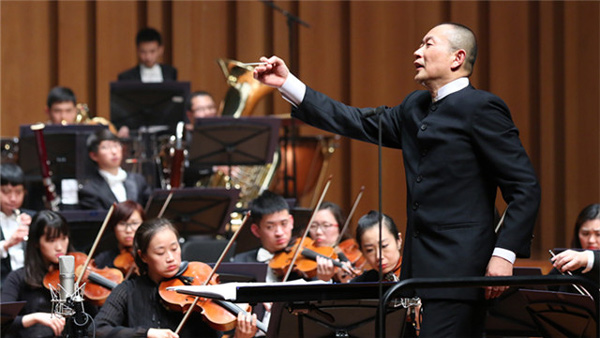 The NCPA marked its eighth anniversary with a concert presented by Chinese composer and conductor Tan Dun.