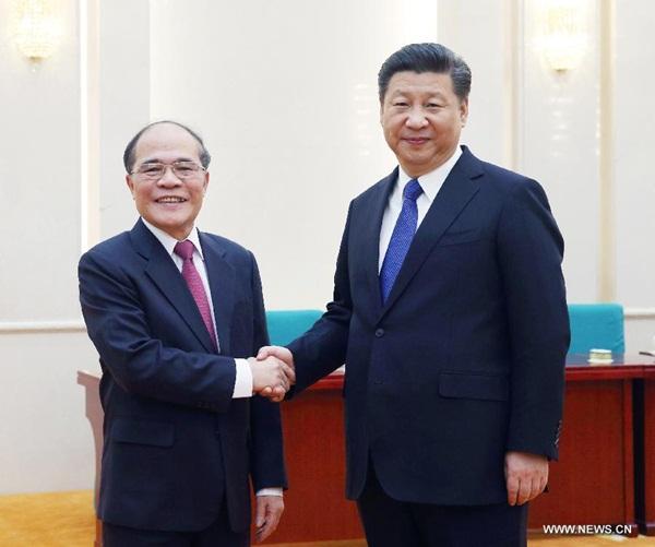 الرئيس الصيني يدعو للتنمية الصحية للعلاقات الصينية الفيتنامية