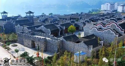 图为:大昌古镇