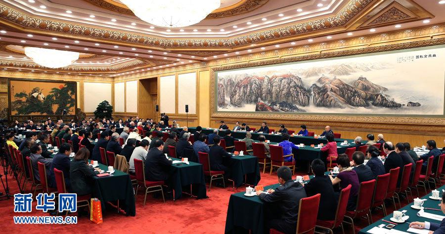 2014年10月15日,中共中央总书记、国家主席、中央军委主席习近平在北京主持召开文艺工作座谈会并发表重要讲话。新华社记者 庞兴雷 摄