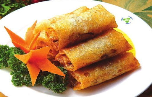 Spring rolls symbolize wealth, because their shape is similar to gold bars.