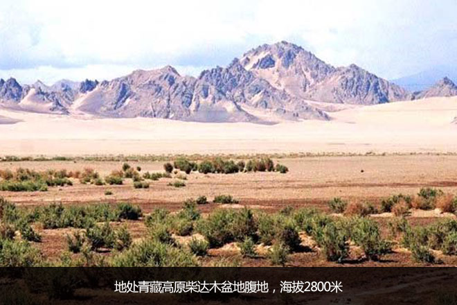 地处青藏高原柴达木盆地腹地,海拔2800米