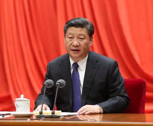 ( 1月12日,中共中央总书记、国家主席、中央军委主席习近平在中国共产党第十八届中央纪律检查委员会第六次全体会议上发表重要讲话。 新华社记者马占成摄)