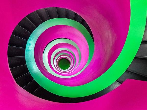 Maravillosas escaleras espirales