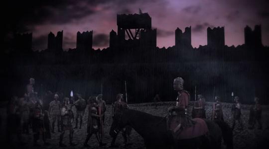 凯撒建造的城墙