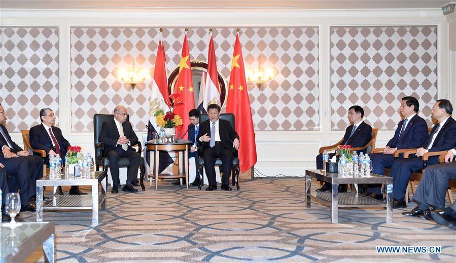 Le président chinois Xi Jinping est arrivé en Égypte