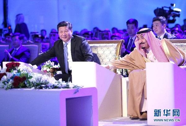 الرئيس شي والملك سلمان يحضران حفل تدشين مشروع مصفاة النفط ينبع