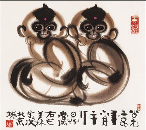 韩美林详解春晚吉祥物:中国猴传递中华文化图片
