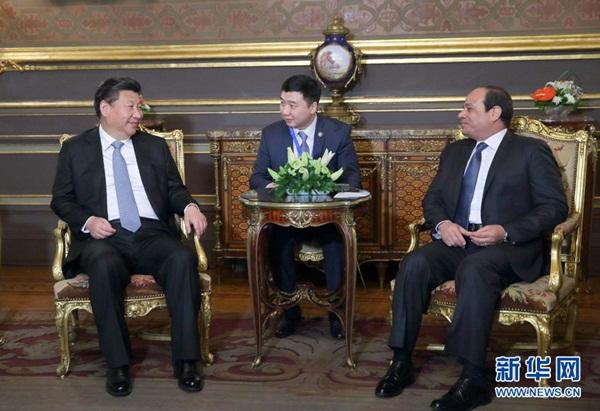 الرئيس الصيني شي جين بينغ يلتقي الرئيس المصري السيسي