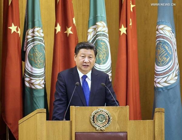 ألقى الرئيس الصيني شي جين بينغ خطابا في مقر جامعة الدول العربية
