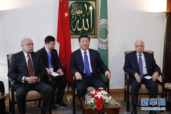 الرئيس الصيني يلتقي الأمين العام لجامعة الدول العربية