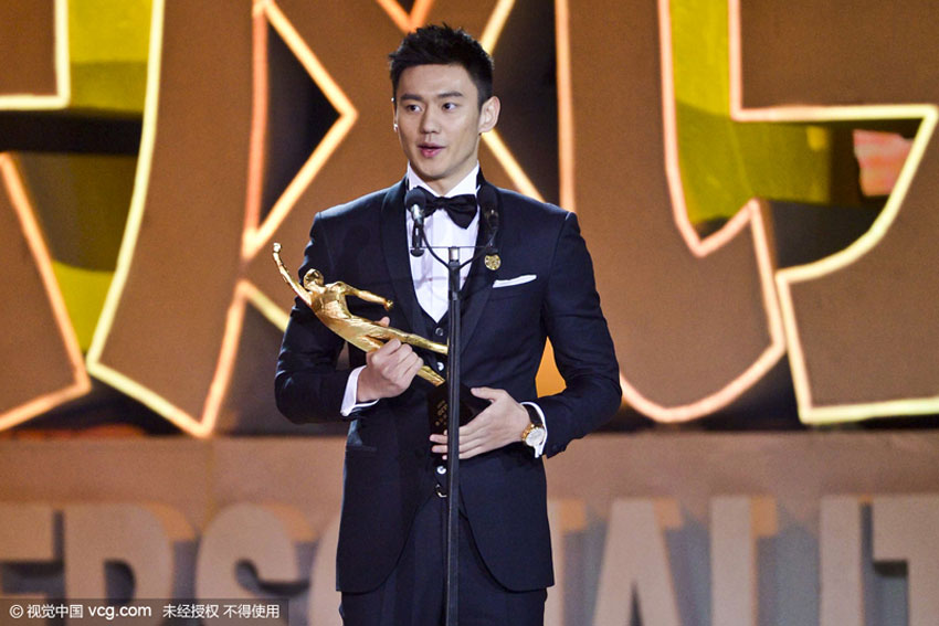 Chinese swimmer Ning Zetao has been awarded as the Best Male Athlete of China