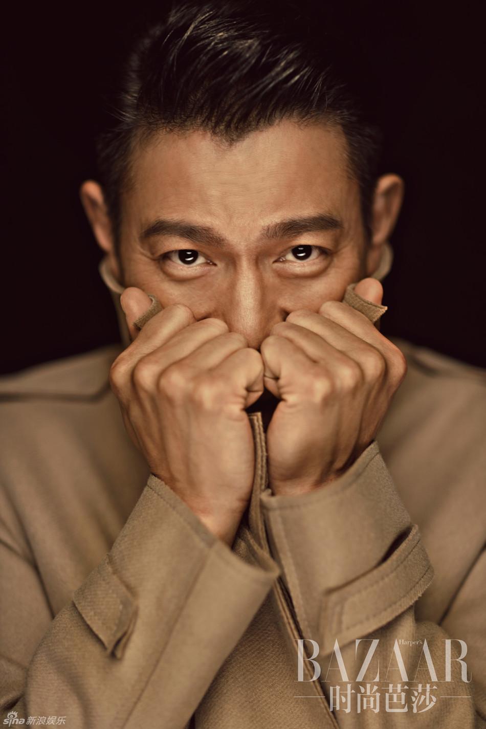 Andy Lau et Christ Lee posent pour Harper