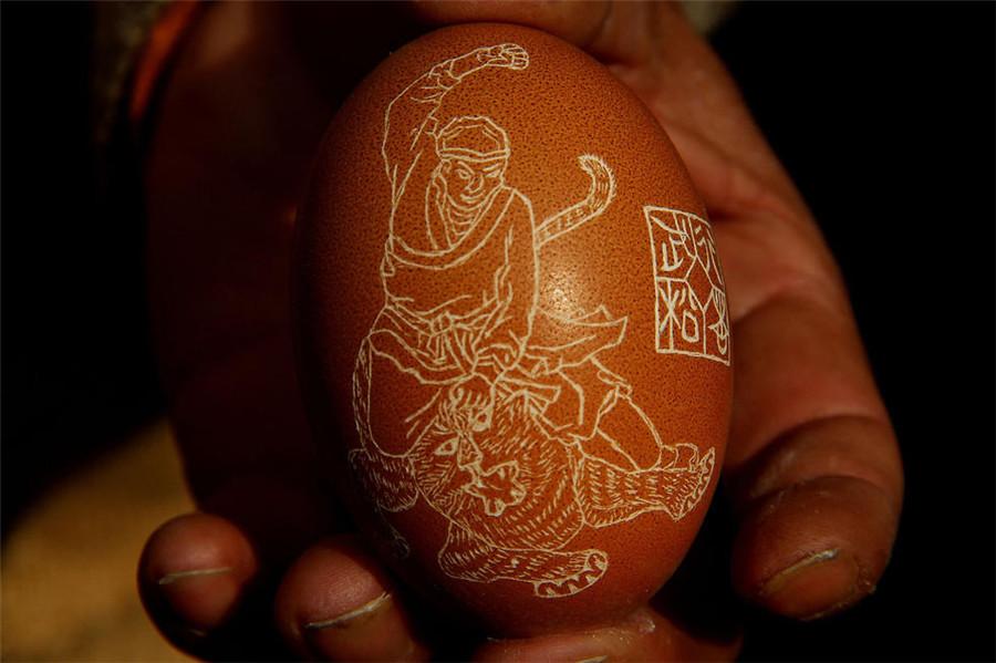 La gravure sur œuf, art d