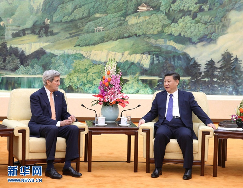 الرئيس الصيني يلتقي وزير الخارجية الأمريكي