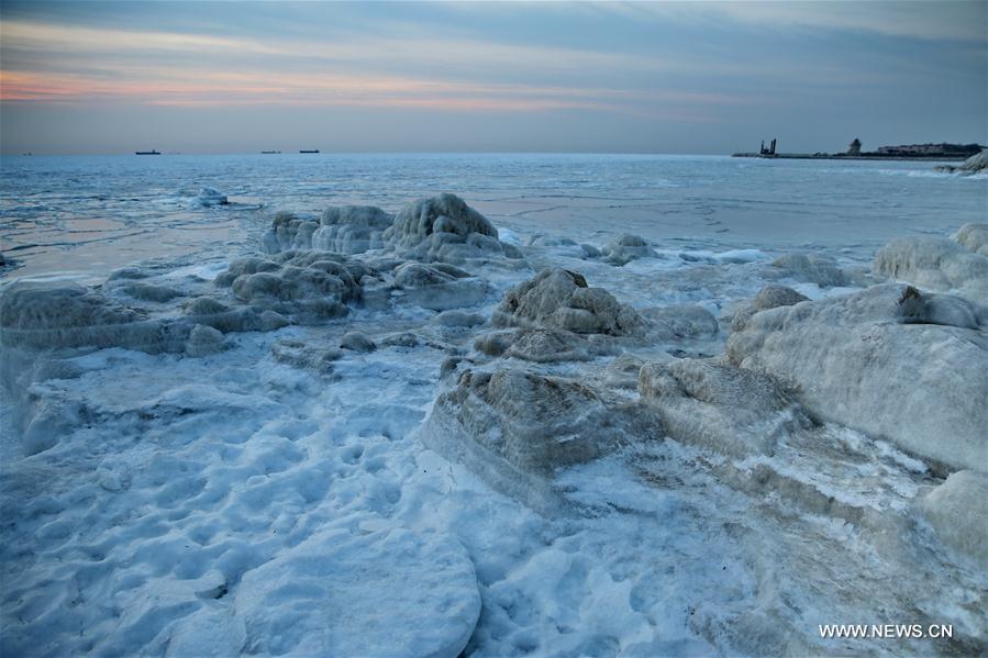 Mer glacée à Qinhuangdao
