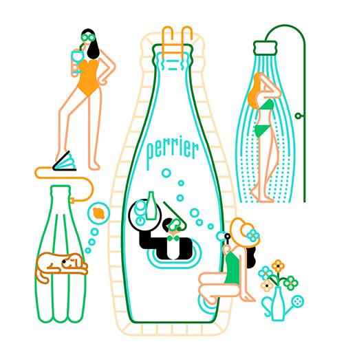 简约的巴黎水创意平面广告