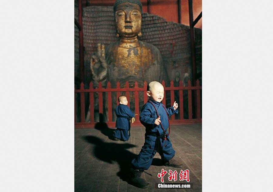 Deux adorables « petits moines » deviennent des stars en ligne