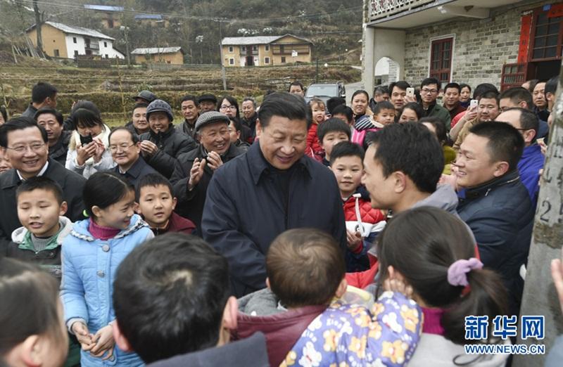 الرئيس الصيني يزور جينغقانغشان في مقاطعة جيانغشي بشرق الصين