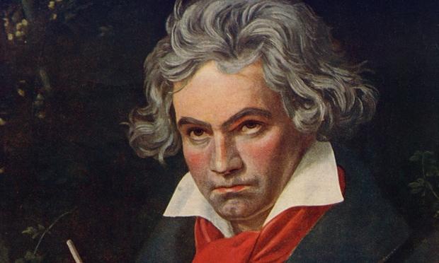 贝多芬《斯蒂芬国王》序曲乐谱手稿中的一页近日拍卖成功-贝多芬手
