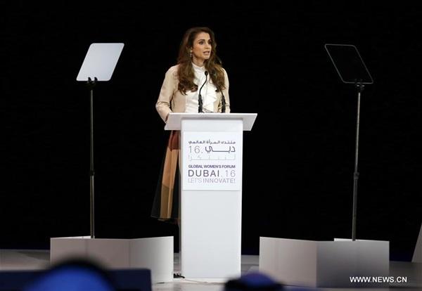 ألقت ملكة الاردن رانيا العبدالله - كلمة رئيسية خلال الافتتاح الرسمي