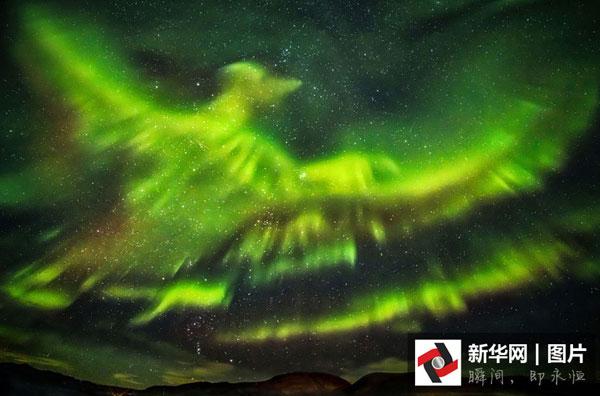 Islande : des aurores boréales en forme de phénix