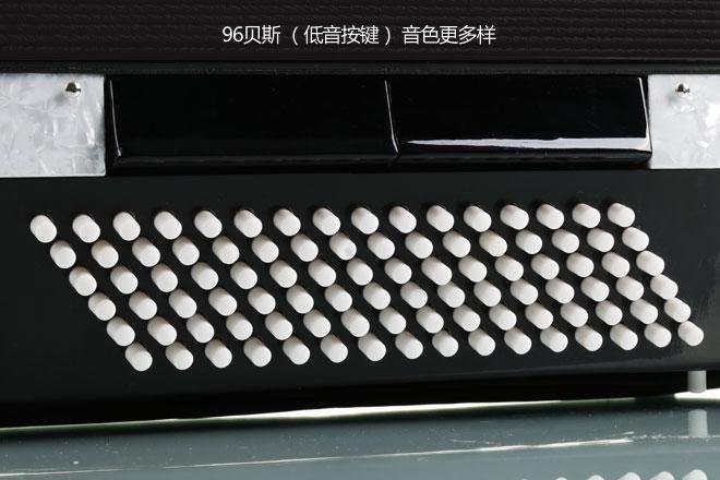 2分  华夏百利手风琴左手部分有96个贝斯和两个和弦按钮,右手部分由37图片