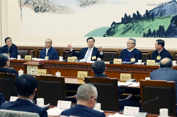 اكبر جهاز تشريعي فى الصين يحقق تقدما فى التشريع والرقابة