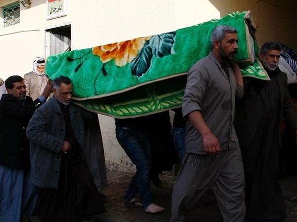 حدث التفجير الانتحاري في مجلس عزاء بالقرب من منطقة المقدادية بمحافظة ديالى شرقي العراق