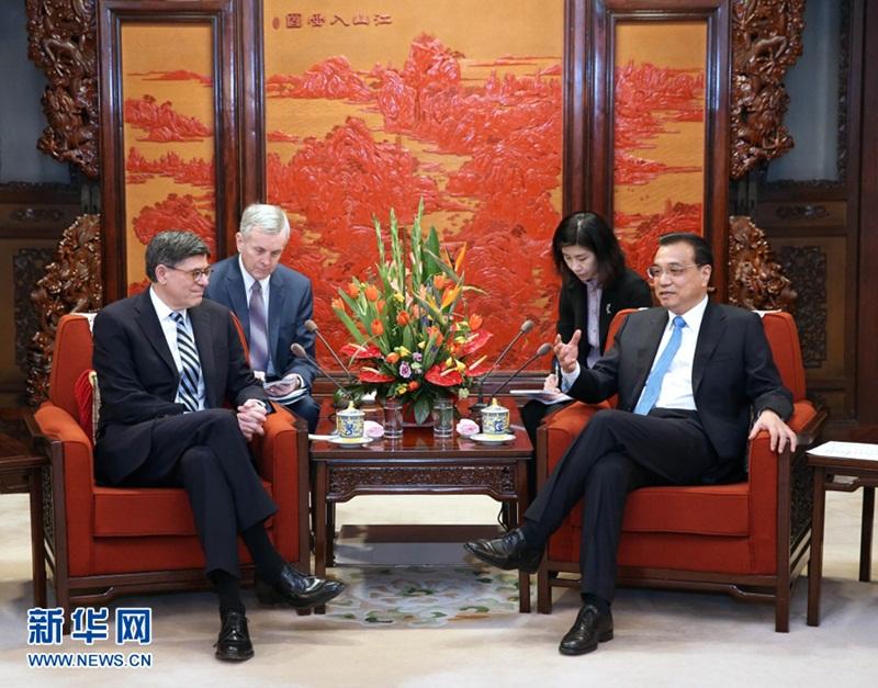 لي كه تشيانغ يجتمع مع الممثل الخاص للرئيس الأمريكي جاكوب ليو