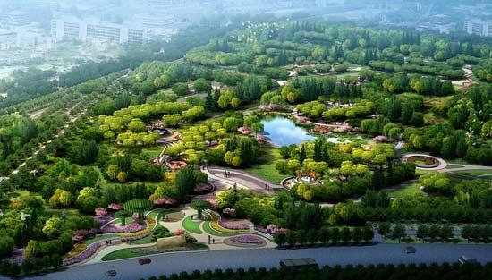 """永顺城市公园鸟瞰图 记者3月1日从市园林绿化局了解到,市行政副中心(通州区)园林绿化建设全面启动。工程将构建""""绿带环绕、绿廊相连、绿块镶嵌""""的生态景观格局,到2020年,通州区的森林覆盖率将由现在的28.39%提升至33%,人均公园绿地面积达到18平方米,公园绿地500米服务半径覆盖率达到90%,基本实现国家生态园林城市的目标。 市行政副中心园林绿化总体布局 据市园林绿化局局长邓乃平介绍,贯彻落实京津冀协同发展战略和北京市行政副中心功能定位,坚持创新、协调、绿色、开放、共享的发展"""